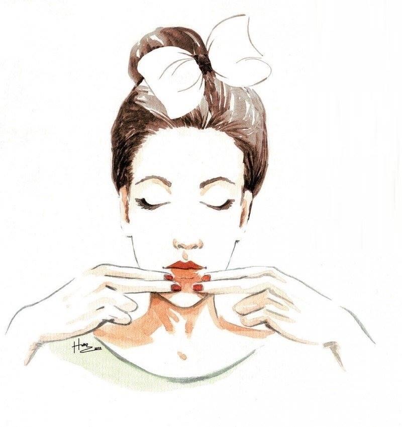 massage vùng khóe miệng